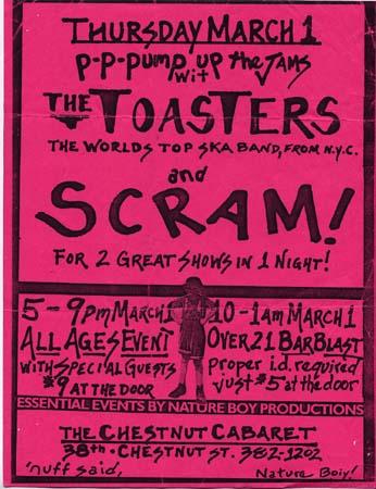 Scram - toasters flyer