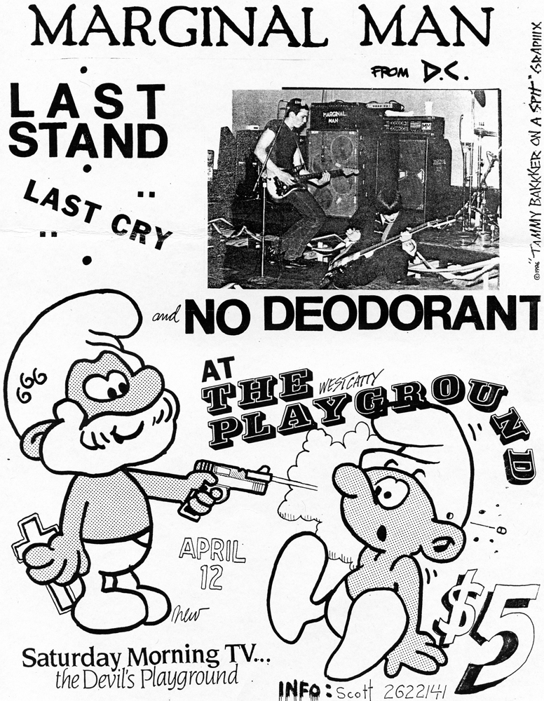 Marginal Man + Last Cry @ West Catty, Catasaque PA 4-12-86