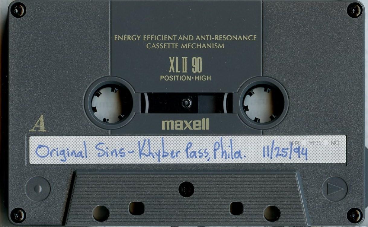 Original Sins Khyber cassette