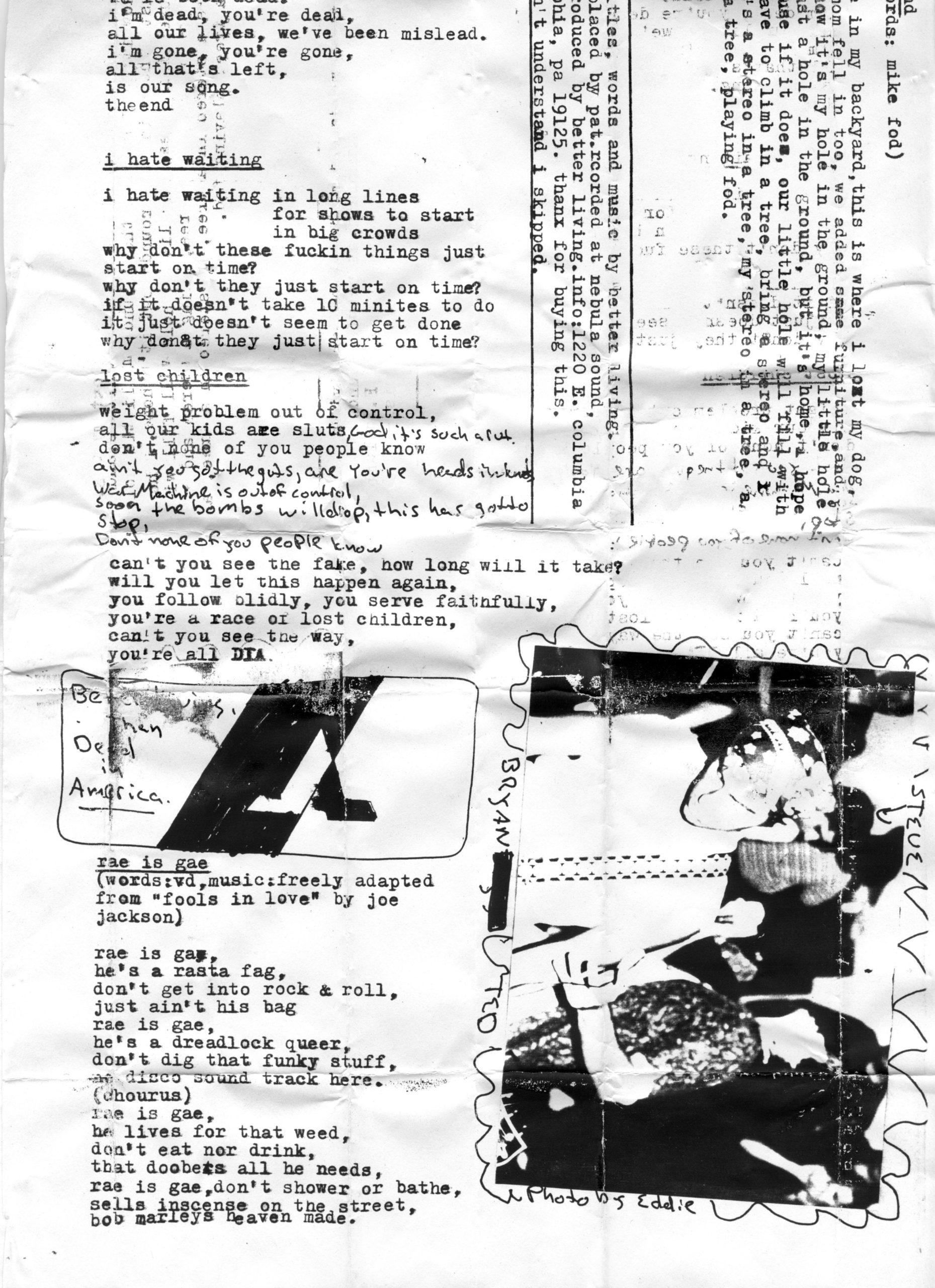 lyric sheet 2