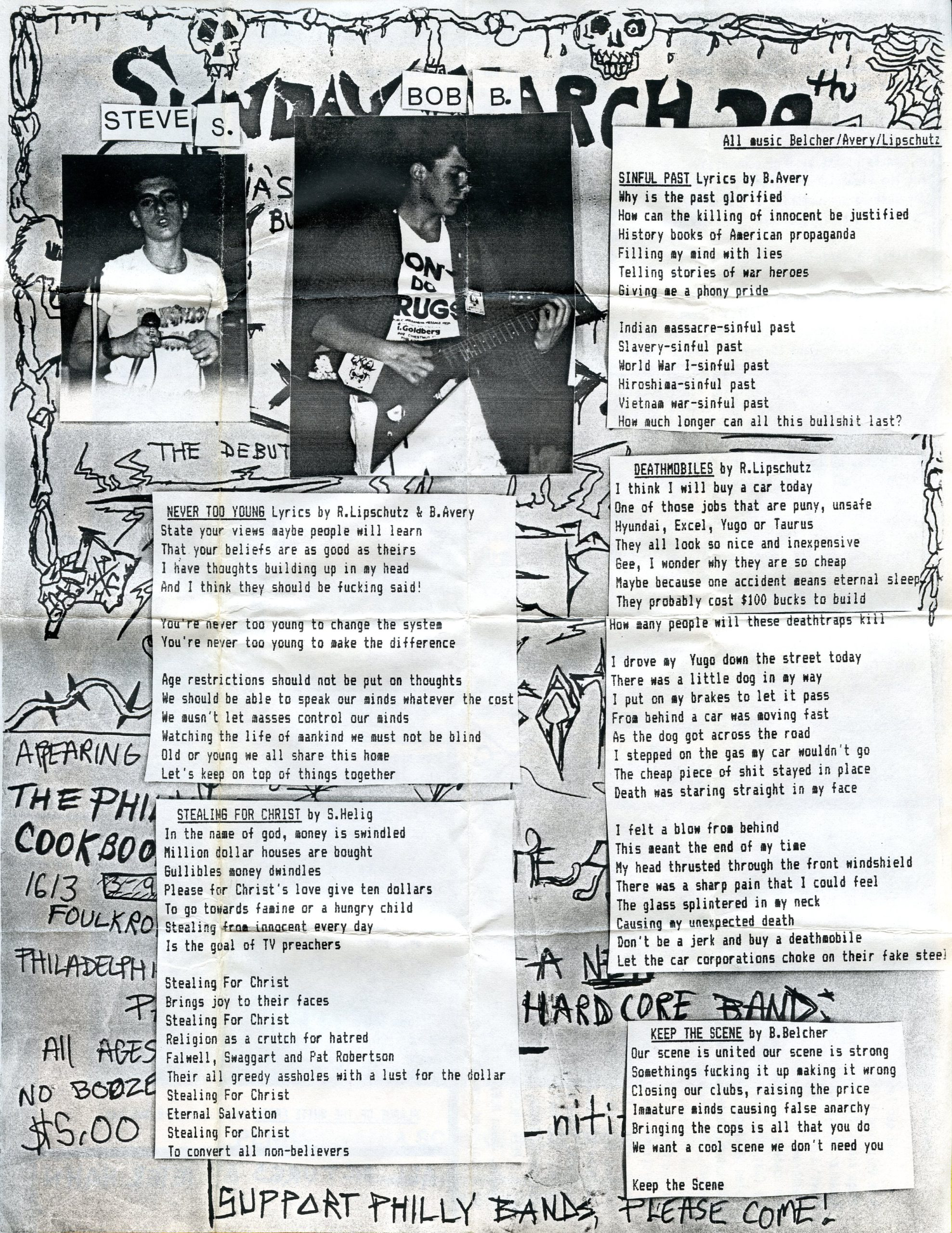 lyric sheet a