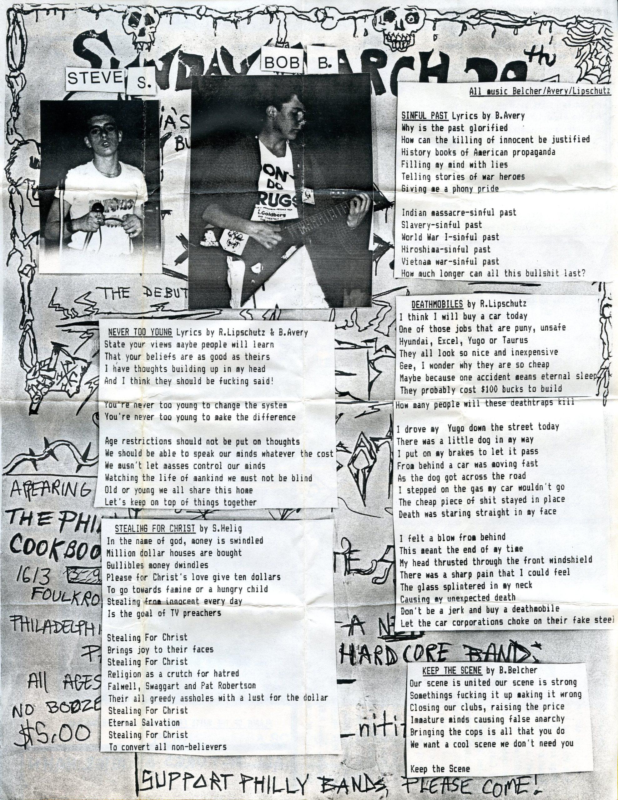 lyric sheet a
