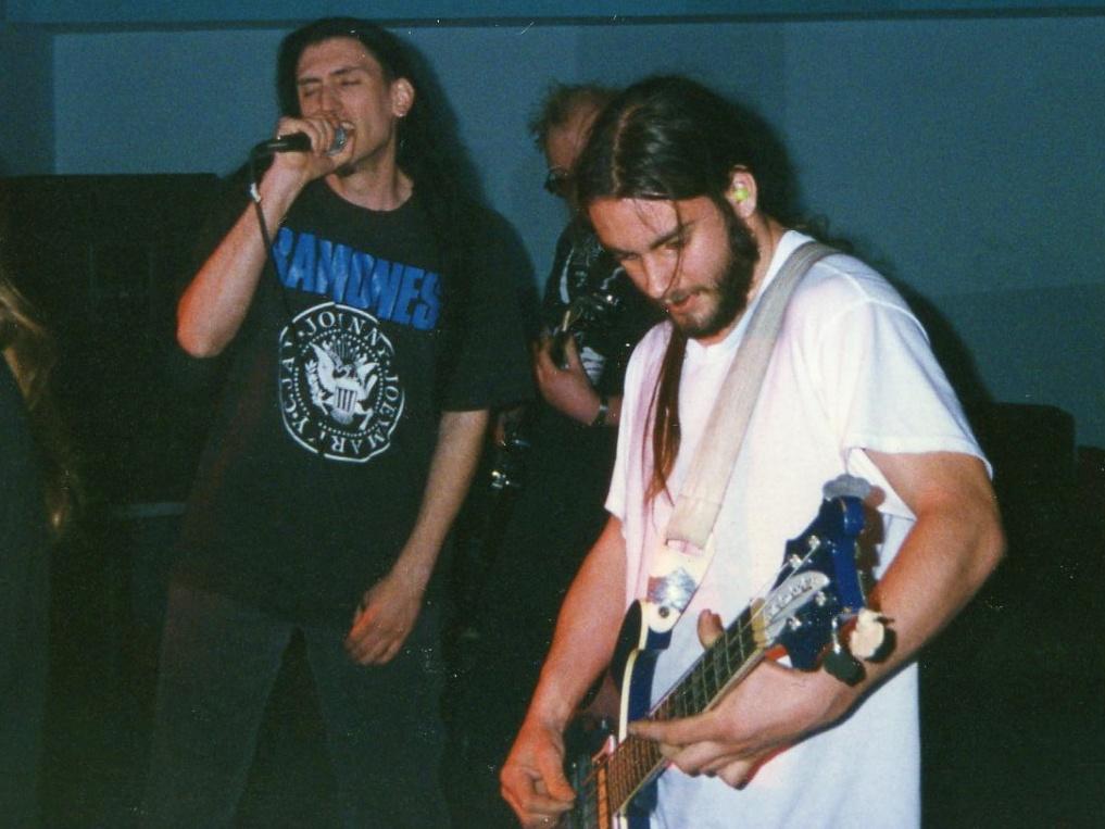 photo – Matt, Adam, Jeff @ Club Sapphire, Norristown 1997