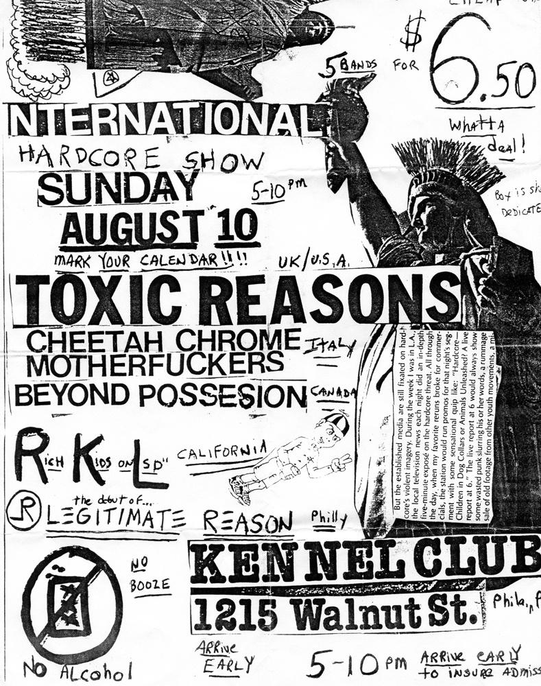 Toxic Reasons + CCM @ Kennel, Philadelphia 8-10-86