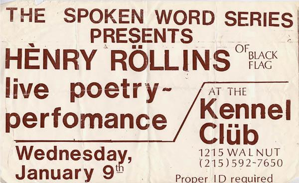 Henry Rollins Flyer