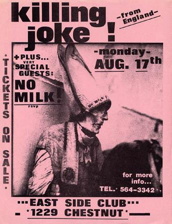 Killing Joke East SIde Club flyer